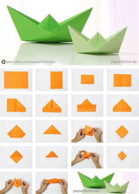 Folded Paper Boat - barco de papel paso a paso origami paper boat papelisimo