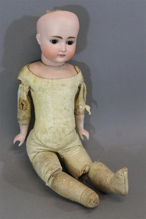 bisque doll leather antique 19thc german kestner no 9 bisque doll