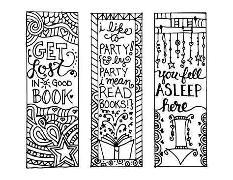 printable bookmarks design your own colour your own bookmarks free printable loving printable