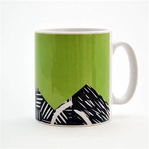 design mug printing lino print design mug by knockout notonthehighstreet com