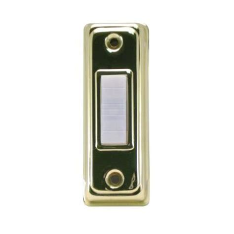 iq america wired lighted doorbell push button brass and