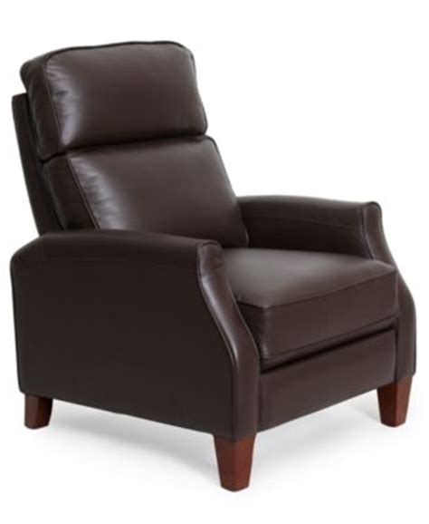 Enzo Leather Recliner Chair by Enzo Leather Recliner Chair Furniture Macy S