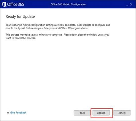 Office 365 Hybrid Configuration Wizard Using The Office 365 Hybrid Configuration Wizard Part 3