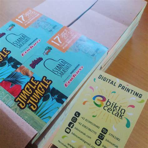 cetak vocher tiket kupon percetakan murah surabaya
