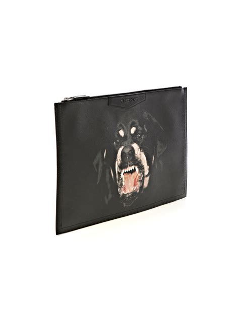 Givenchy Pouch givenchy large pony hair embossed leather pouch in black
