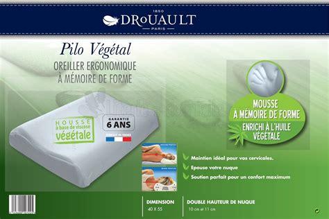 oreillers ergonomique oreiller pilo vegetal de drouault mousse 224 m 233 moire de forme