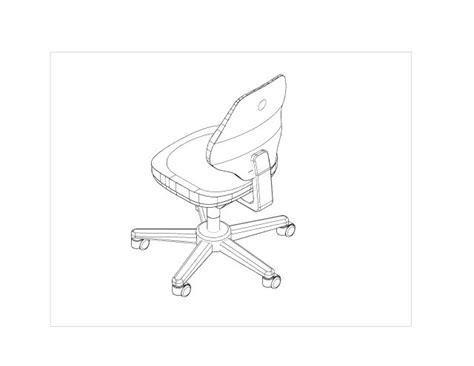 Stuhl 2d by B 220 Rostuhl Autodesk Rund Um Autocad Augce De