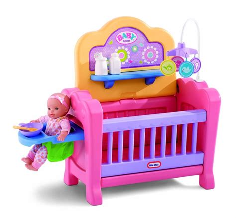 Baby Doll Crib And Highchair Sturdy Baby Doll Nursery W Crib Playpen High Chair Changing Table Ebay