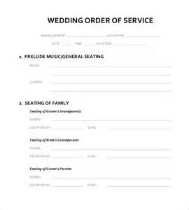 order of service template word wedding ceremony list template mini bridal