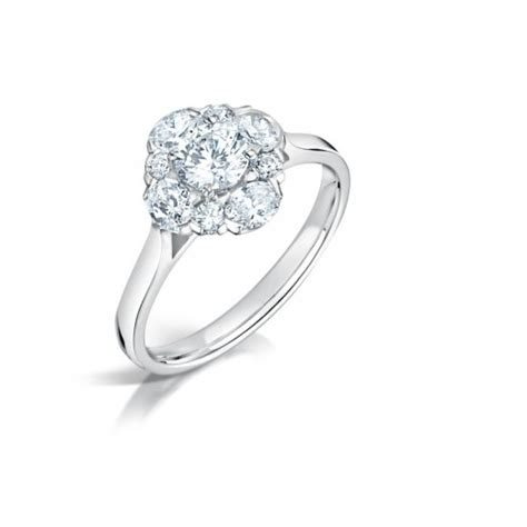 oval cluster ring clearwater diamonds