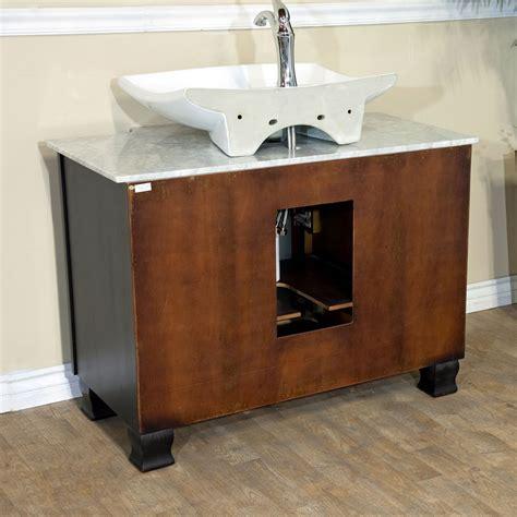 back to back sinks 40 quot canete single vessel vanity bathgems com
