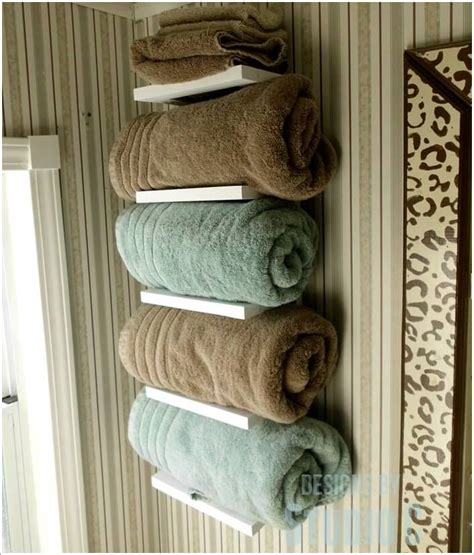 15 cool diy towel holder ideas for your bathroom