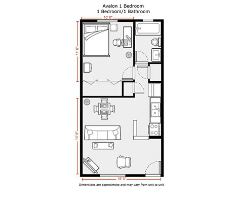 Cabin Open Floor Plans du apartments floor plans amp rates avalon apartments