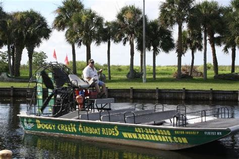 airboat adventures at boggy creek spot the alligator picture of boggy creek airboat rides