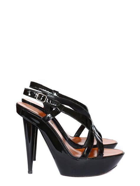 black patent high heel sandals louise lanvin black patent leather high heel