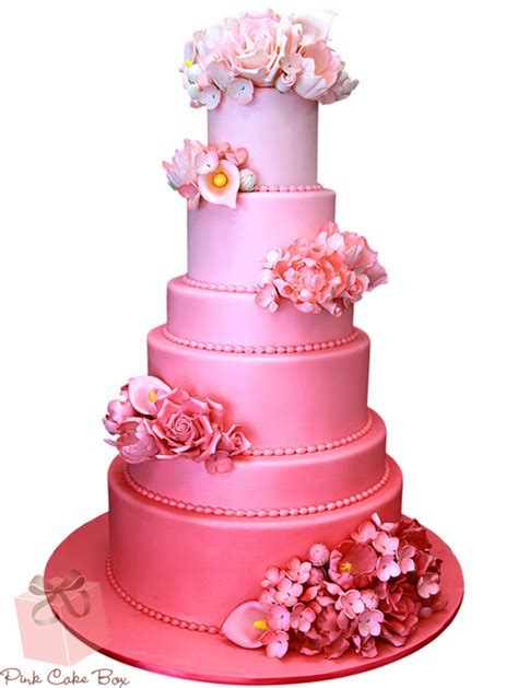 wedding cake of the day pink ombr flower wedding cake 301 moved permanently