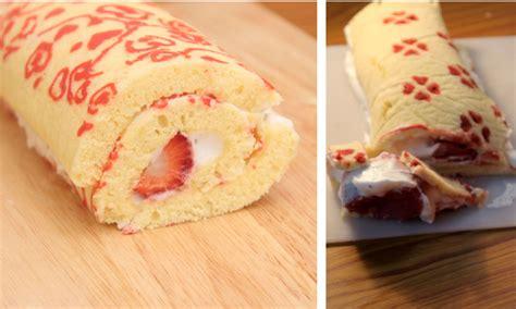 japanese patterned swiss roll patterned swiss roll cake japanese deco roll cake