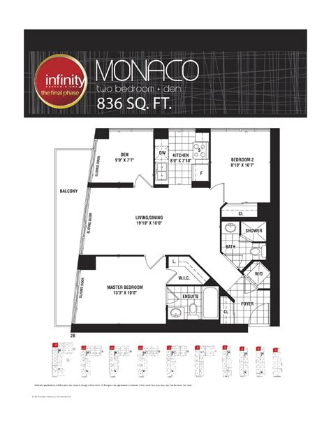 30 grand trunk floor plans monaco 836 infinity condos at 19 30 grand trunk cres