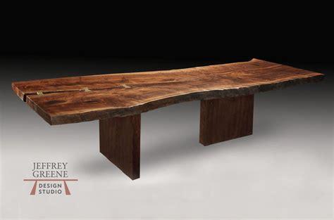 dining table leg placement asymmetric board leg live edge dining table jeffrey greene