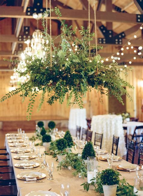 natural green table decor wedding flower decorations