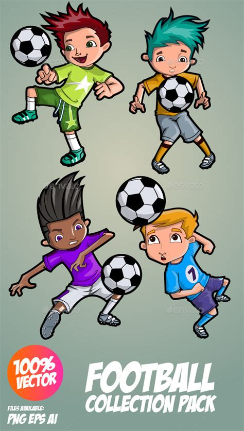 soccer kids by memoangeles graphicriver kids football cartoon 187 tinkytyler org stock photos graphics