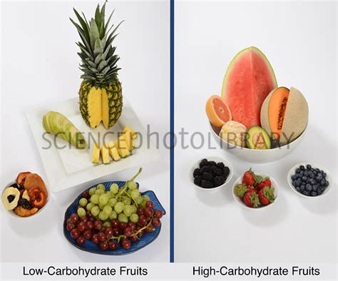 carbohydrates i fruit high and low carbohydrate fruits stock image c027 3000