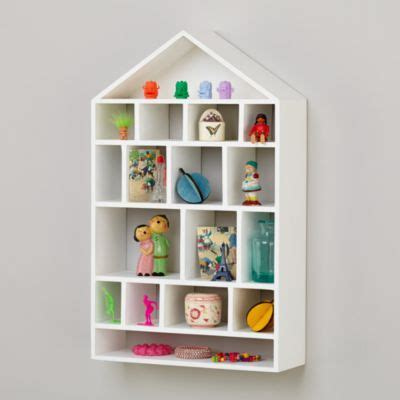 four story wooden wall shelf white the land of nod