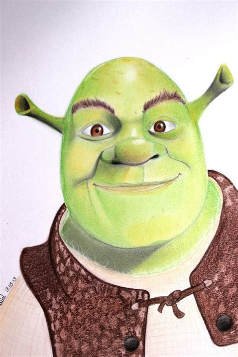 free shrek painting drawing shrek