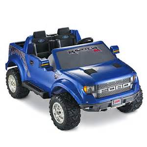 Power Wheels F150 Truck Power Wheels 174 Ford F 150 Svt Raptor Blue Shop Power