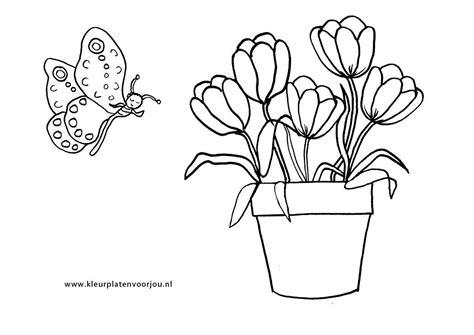 kleurplaat bloem moederdag moederdag kleurplaten kleurplaten voor jou