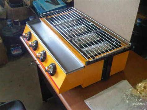 Pemanggang Steak 4 Tungku Stainless Steel Etk 222s Getra sentral gas panggangan gas tanpa asap bbq