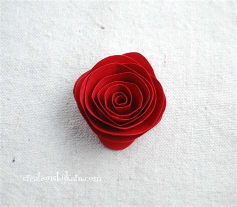 Roses With Paper - rolled paper roses tutorial 010 creations by kara