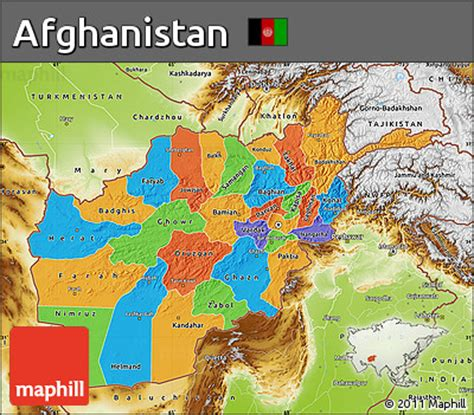 political map of afghanistan free political map of afghanistan physical outside