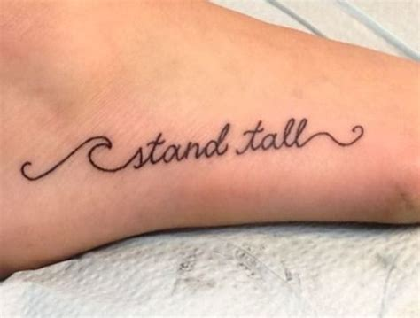 wave tattoo on foot stand text on foot fashion today tattoos
