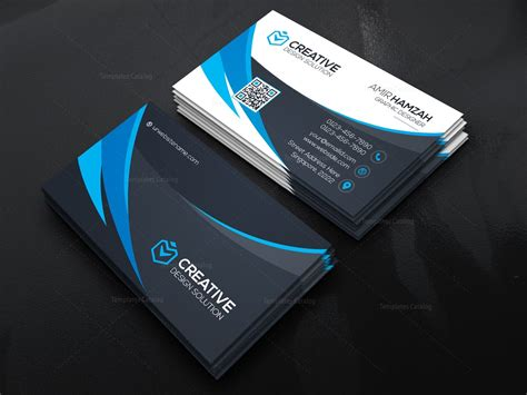 stylish business cards templates stylish business card template 000467 template catalog