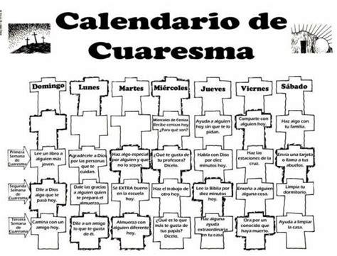 Calendario Quaresma 2016 Reliartes Fichas Cuaresma 2016