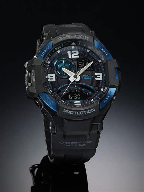 Casio G Shock Ga 1000 Black Blue 1 100 genuine 100 brand new casio gshock g aviation