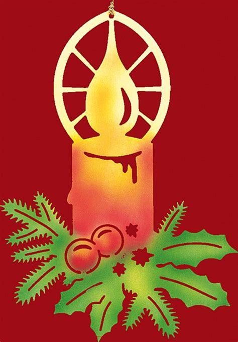 Fensterdeko Weihnachten Kerzen by Fensterbild Weihnachten Farbig Kerze Mit Zweigen Klein