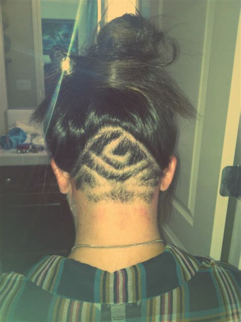 nape cut designs female long hairstyles with neck nape shaved