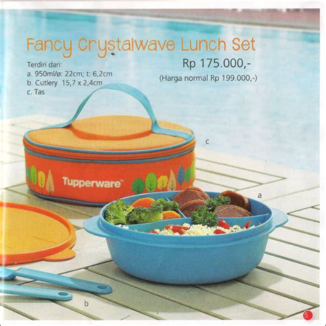Baru Tupperware Fancy Crystalwave Lunch Set fancy crystalwave tupperware promo agustus 2014