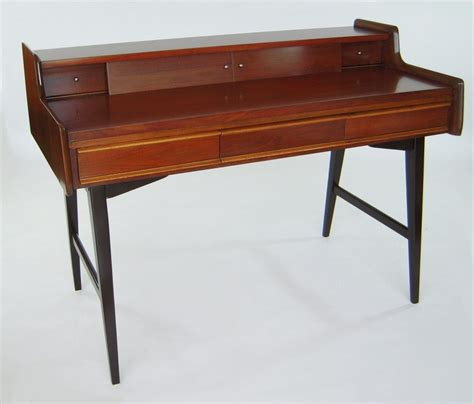 italian mid century modern writing desk with compartments