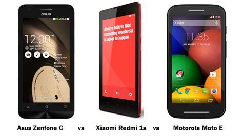 zenfone c asus zenfone c vs xiaomi redmi 1s vs motorola moto e specifications features comparison