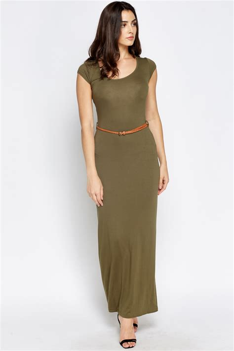belted maxi dress just 163 5