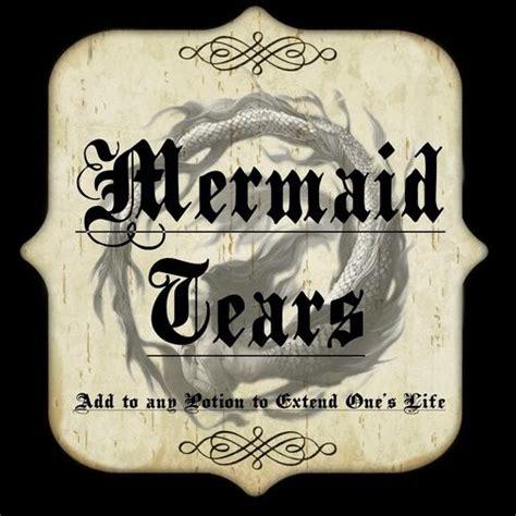 Bathroom Apothecary Jar Ideas mermaid tears label attachment 131678 vintage bottles