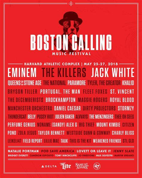heres boston callings spring 2016 lineup boston calling music festival announces 2018 lineup