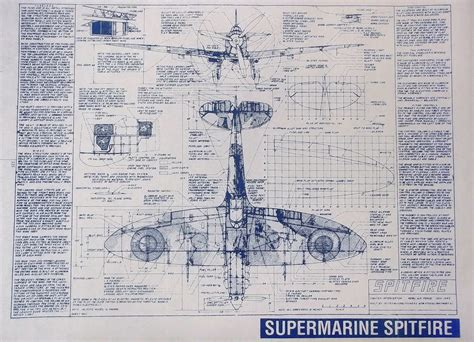 blueprint drawing free supermarine spitfire blueprints