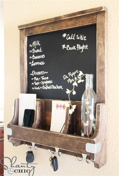 diy entryway organizer chalkboard entryway organizer interior design ideas