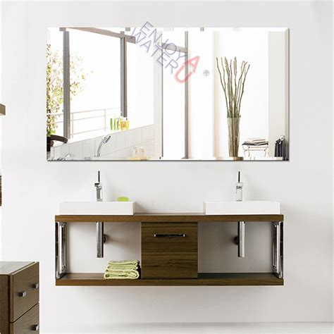 large frameless bathroom mirrors 1500x900mm bathroom mirror large bevel edge wall mounted
