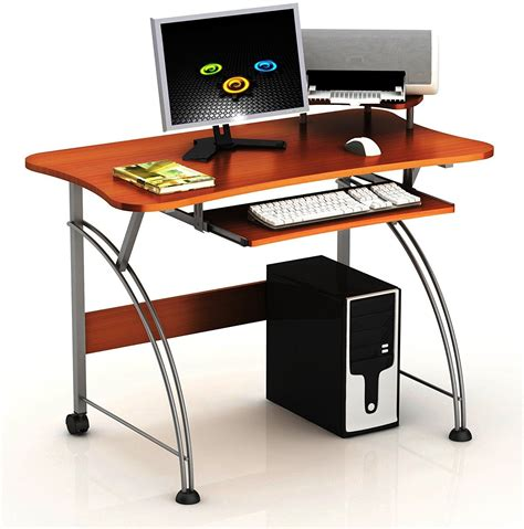 desk with slide out table home office pc laptop computer desk table w slide out