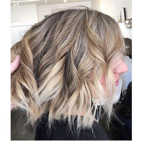 lob for thin wavy hair wavy lob hair styles color styling trends right now